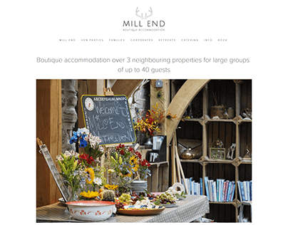 Squarespace website for a boutique holiday cottage