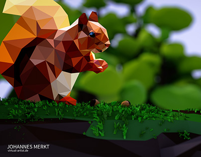 Squirrel Low Poly