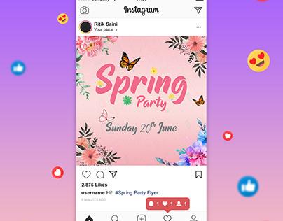 Spring Party Social Media + Flyer