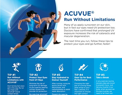 ACUVUE Run Without Limitations Campaign 2015