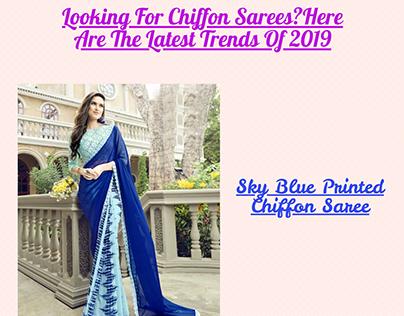 Latest Chiffon sarees