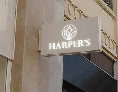 """Beauty salon """"Harper's"""" - Logo design & Branding"""