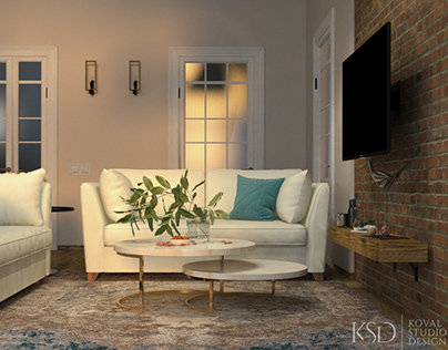 KSD-project. Design for home. Living and dining room