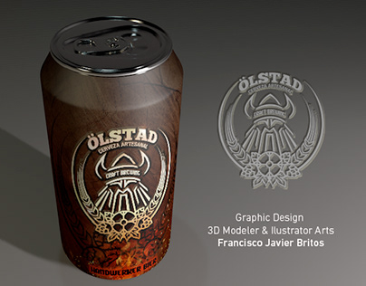 Label Design and 3D Modeling for beer can