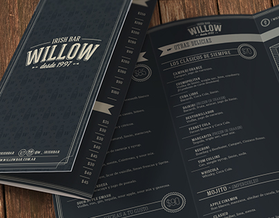 Willow · Irish Bar / Diseño de identidad