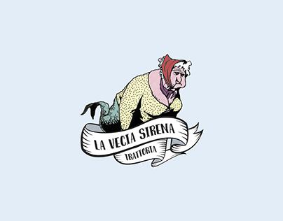 Trattoria La Vecia Sirena, Logo (2017) (disponibile)