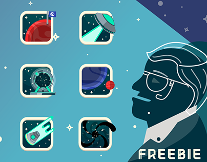Astronomy free icons ( in memory of Stephen Hawking)