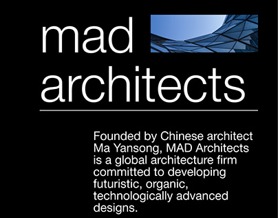 MAD Architects — UX/UI Redesign