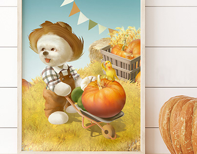 Pumpkin Patch   Wall Art   Kids Room   Poster