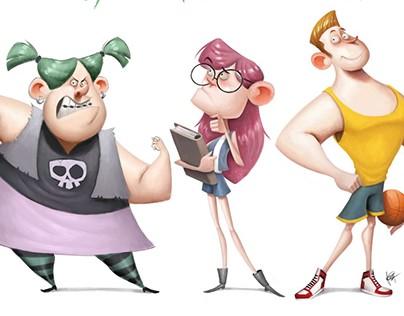 High School: Character Design