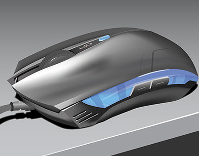 Gaming Mouse Digital Illustration