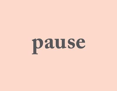 pause - a minimalist life