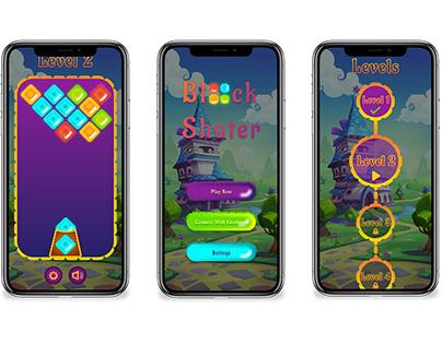Block Shutter Game UI Design