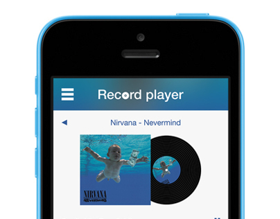 Record Player App Concept for iPhone