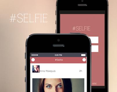 Application Design for photos - #Selfie