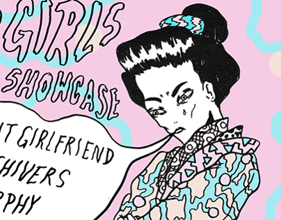 Sad Girls y Qué Showcase Flyer for AMF Festival
