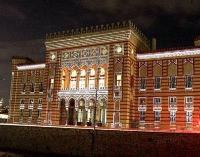 SARAJEVO CITY HALL 3D MAPPING