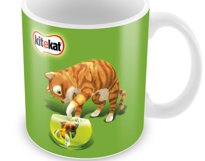 Kitekat design coffe mug design. corporate gift