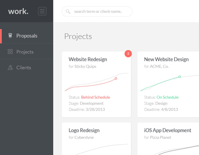 Work. UI Concept