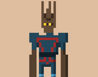 Pixelated Guardians of the Galaxy
