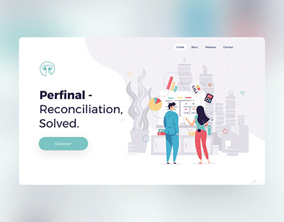 Renconciler onepager UI & illustrations