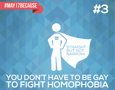 Int'l Day against Homophobia: #May17Because