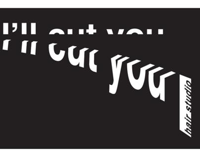 I'll Cut You Hair Studio, Graphic Design