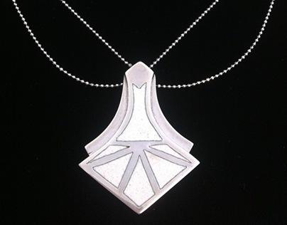 Colar Oryx em prata e esmalte