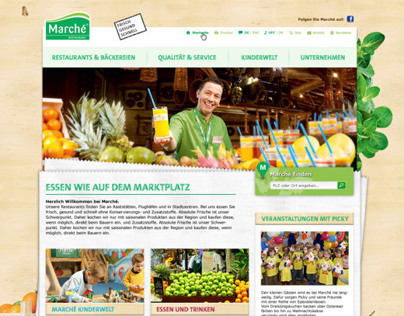 Marché Restaurants Website ReDesign