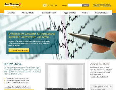 PostFinance Campaign Landingpage