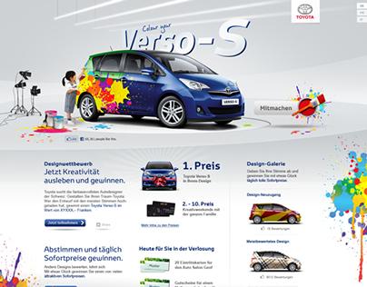 Toyota Verso-S Campaign-Microsite