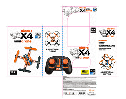 Package design for new X4 Mini Drone RC Quad