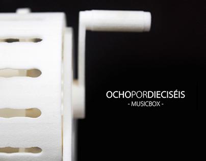 OCHOxDIECISÉIS - 3D print musicbox