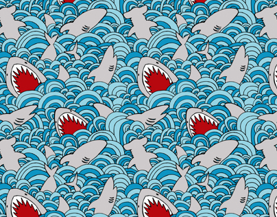 Shark Attack Fabric Design
