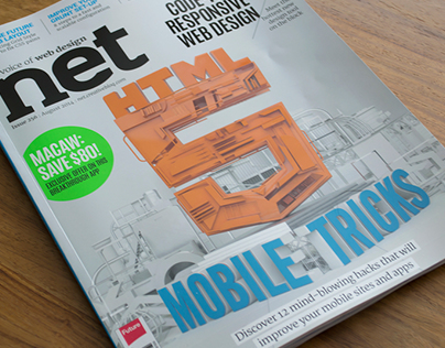 Net Magazine Issue 256 - 3D Cover Illustration