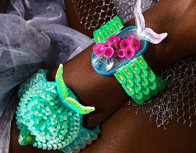 Fish Bracelets 3D Printed on Stratasys Connex3