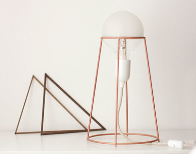 Agraffé lamp