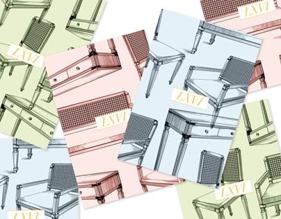 LXVI Postcard set design