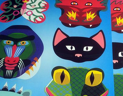 Paper Masks Poster Game