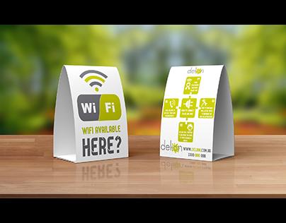 delion wifi tent card