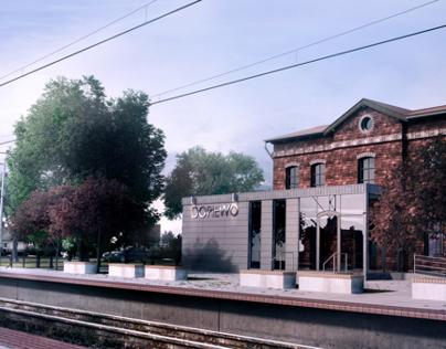 The modernization of railway station in Dopiewo, Poland