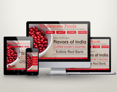 ★ Wholesome Foods Magazine Responsive Layout ★