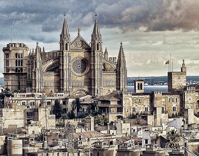 Skyline of Palma - high definition touch