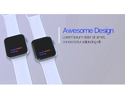 Smart Watch App Promo template (AE+3D Element)