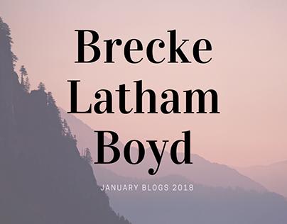 Brecke Latham Boyd January Blogs 2018