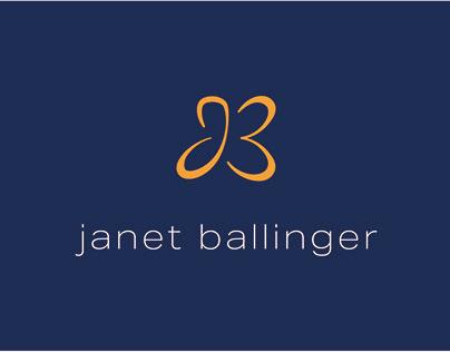 Logo and branding for Janet Ballinger