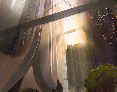 Ghost In the Shell. Environment Concept Art