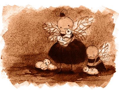 Bee Calender Illustrations