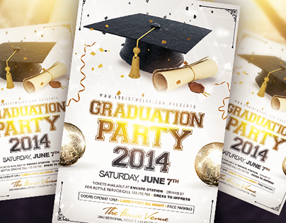 Graduation Party | Flyer Template on Behance