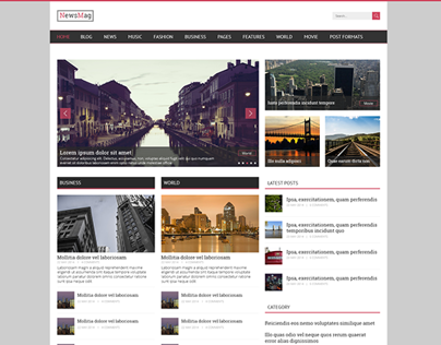NewsMag - News & Magazine PSD Template